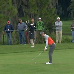 Kevin Chappell gets up and down for birdie at The RSM Classic