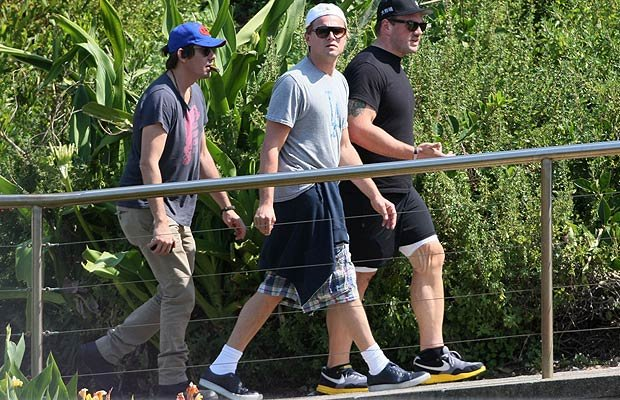 Leonardo DiCaprio and pals toured Bondi Beach in Sydney. PacificCoastNews.com