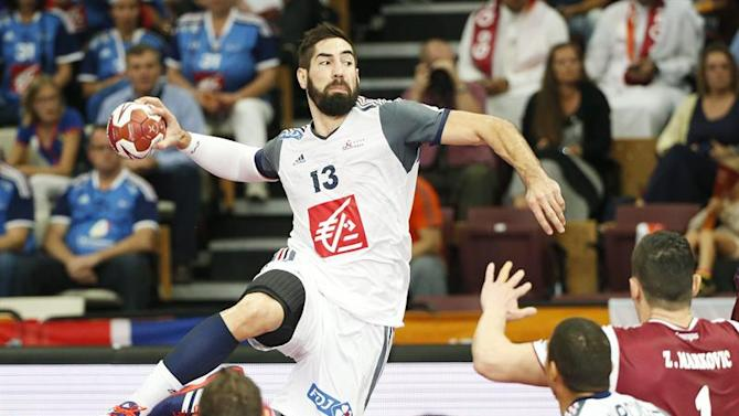 . Lusail (Qatar), 01/02/2015.- Nikola Karabatic of France in action during the Qatar 2015 24th Men's Handball World Championship final between Qatar and France at the Lusail Multipurpose Hall outside Doha, Qatar, 01 February 2015. Qatar 2015 via epa/Ali Haider Editorial Use Only/No Commercial Sales