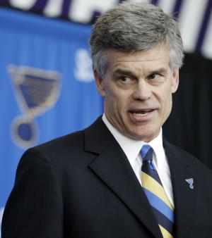 Tom Stillman is introduced as the new majority owner of the St. Louis Blues NHL hockey club during a news conference, Thursday, May 10, 2012, in St. Louis. The Stillman group will become the eighth owner of the Blues since the franchise started in 1966. (AP Photo/Jeff Roberson)