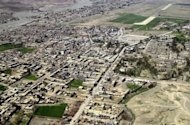 This file photo shows an aerial view of Miranshah, the main town in North Waziristan, pictured in 2006. A US drone attack early Saturday has killed at least four militants near Miranshah, according to security officials