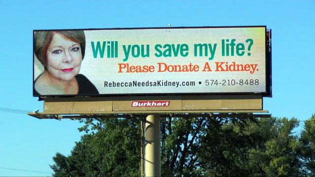 Woman takes out billboard ads to find a kidney donor