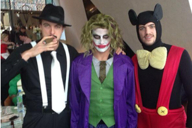 Newcastle celebrate Man Utd scalp with Xmas fancy dress party in Dublin