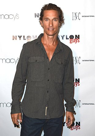 slimmed-down Matthew McConaughey on August 15 (Photo by Michael