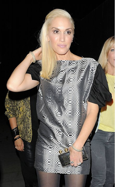 Gwen Stefani leaving 'The Garage' live music venue in Highbury & Islington, having watched a band perform there with a female friend.London, England - 26.09.12Mandatory Credit: Will Alexander/