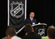 National Hockey League (NHL) Commissioner Gary Bettman speaks to the media September 13, in New York City. Bettman received a unanimous vote from NHL owners in support of a lockout of players if the two sides can't reach a deal by Saturday night