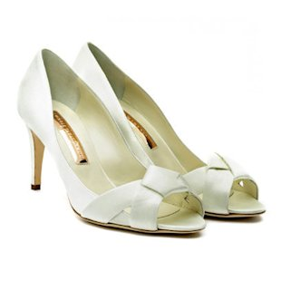 Japyn Ivory Satin Knotted Peep Toes Rupert Sanderson: What to Wear: Wedding