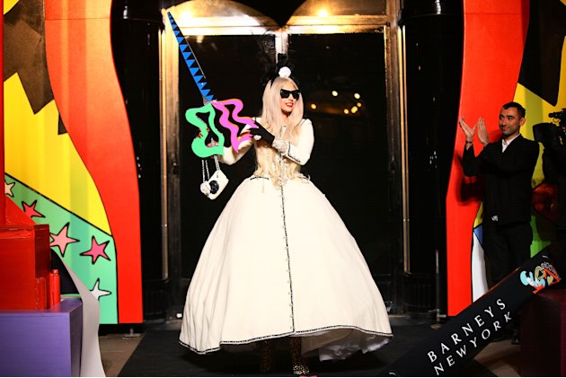 Gaga's Workshop Ribbon Cutting At Barneys New York With Lady Gaga