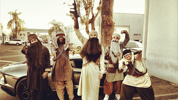 Chris Brown's Terrible Terrorist Costume