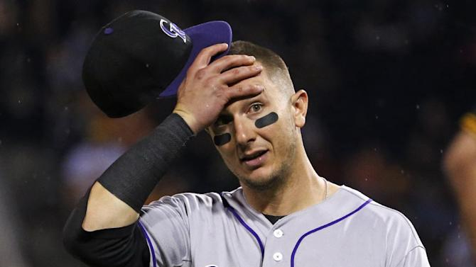 Rockies SS Tulowitzki leaves game with leg cramp