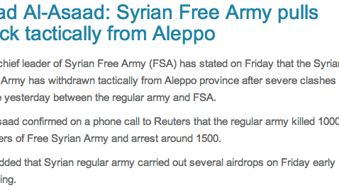 Reuters Blogs Hacked with Fake Story About Syrian Rebel Retreat