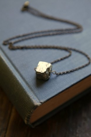 Pyrite Cube Necklace