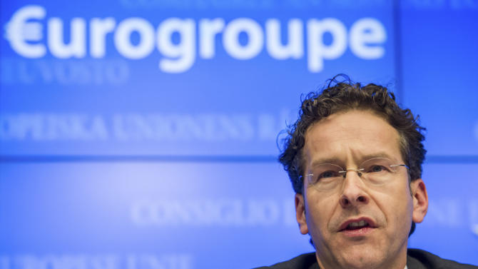 FILE - In this Jan. 21, 2013 file photo, Dutch Finance Minister and chief of the Eurogroup Jeroen Dijsselbloem addresses the media at the EU Council in Brussels. Dijsselbloem on Friday, Feb. 1, 2013 nationalized the long-suffering bank and insurance company SNS Reaal NV to prevent a disorderly bankruptcy and will spend euro 3.7 billion ($5 billion) to recapitalize it. (AP Photo/Geert Vanden Wijngaert, File)