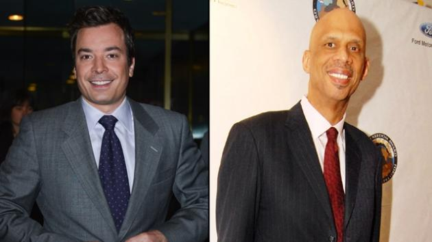 Jimmy Fallon, Kareem Abdul Jabbar -- Getty Images
