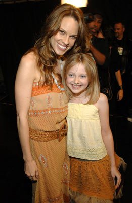 Hilary Swank and Dakota Fanning