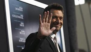"Cast member Jackman waves at the premiere of his film ""Prisoners"" at the Academy of Motion Picture Arts and Sciences in Beverly Hills"