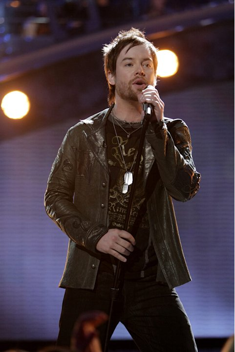 David Cook performs as one …