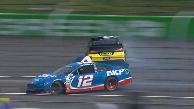Ambrose spins, collects Mears and Hornish Jr.