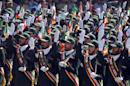 Iran's elite Revolutionary Guards take part in an annual military parade in Tehran, on September 22, 2013