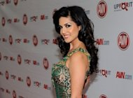 This file photo shows adult film actress and show host Sunny Leone, pictured at the 29th annual Adult Video News Awards Show in Las Vegas, Nevada, in January. Leone makes her Bollywood debut on Friday in what is expected to be one of India's raunchiest mainstream movies, which is already raising eyebrows in the sexually conservative country