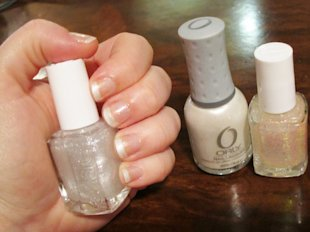 Frosty French Manicure