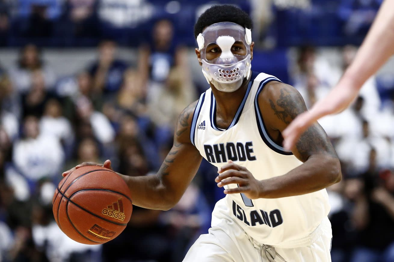 Jarvis Garrett's mask will give college basketball players nightmares