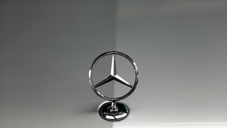 File photo of the bonnet emblem of a Mercedes-Benz car