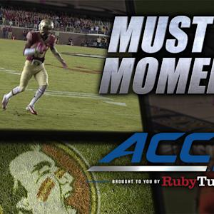 FSU's Travis Rudolph Shakes Off Defender and Scores | ACC Must See Moment