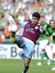 "Aston Villa defender Eric Lichaj during a football friendly in Germany in August. ""I feel extra pressure because I'm not a natural left-back, but I'm playing in that position now,"" Lichaj said. ""I need to do as well as I can and hopefully I can keep that spot."""