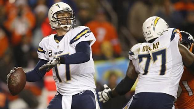 American Football - Chargers upset Broncos in Denver
