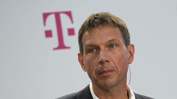 Deutsche Telekom CEO Obermann attends news conference to present a joint initiative for encrypted email with United Internet in Berlin