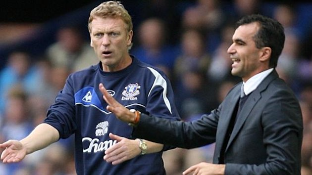 David Moyes and Roberto Martinez prepare to meet for the first time this season (PA)