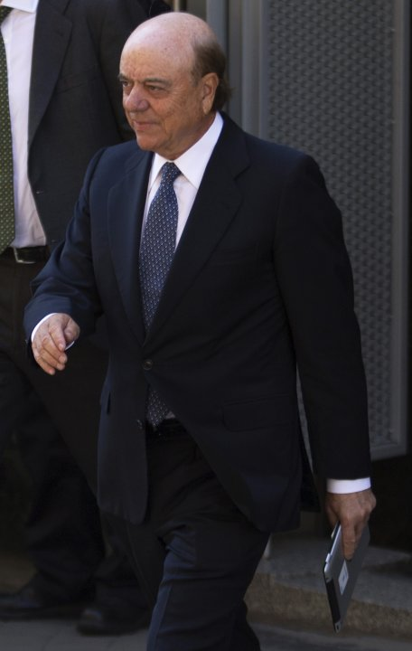 Gonzalez, chairman of Spanish bank BBVA, leaves the Spanish High court in Madrid