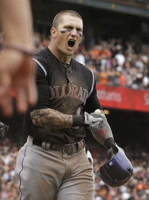 Rockies score twice in ninth to stun Giants