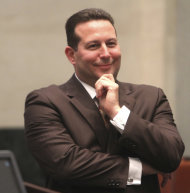Defense attorney Jose Baez smiles after his client, Casey Anthony, was found not guilty in her murder trial in Orlando, Fla. on July 5, 2011. Anthony had been charged with killing her daughter, Caylee. (AP Photo/Red Huber, Pool)