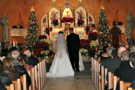 We got married around Christmas.