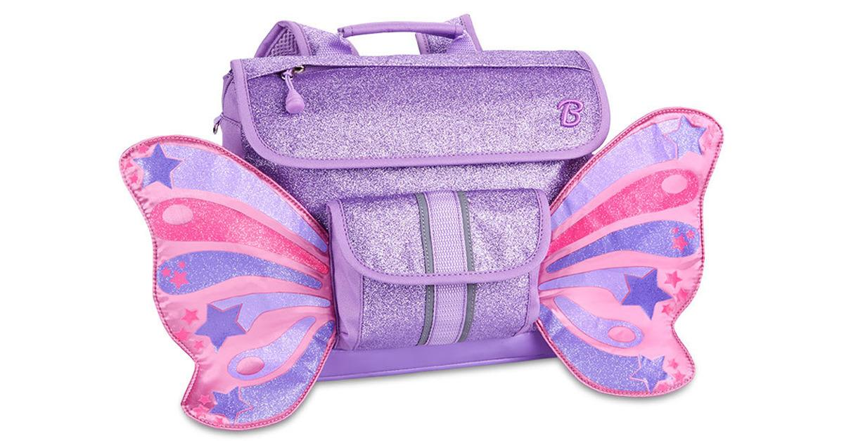 Pre-K Purple Glittery Butterfly Backpacks, Now $35