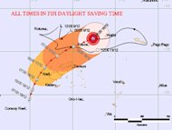 Fiji's northern islands experienced flooding and structural damage as Cyclone Evan hit the region