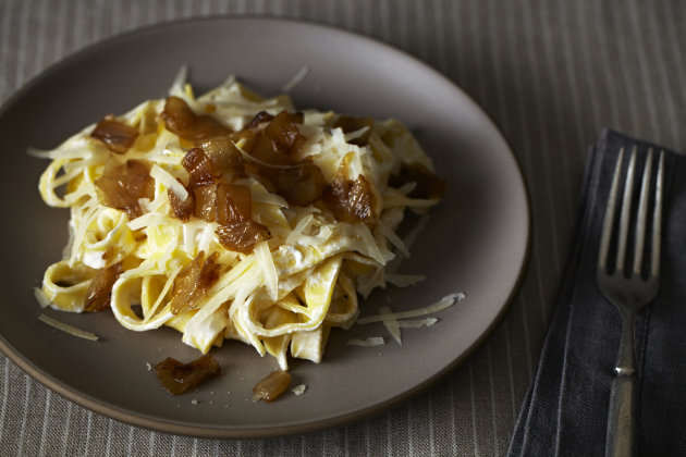 Diane Kochilas' Pasta with Yogurt and Caramelized Onions on Food52.