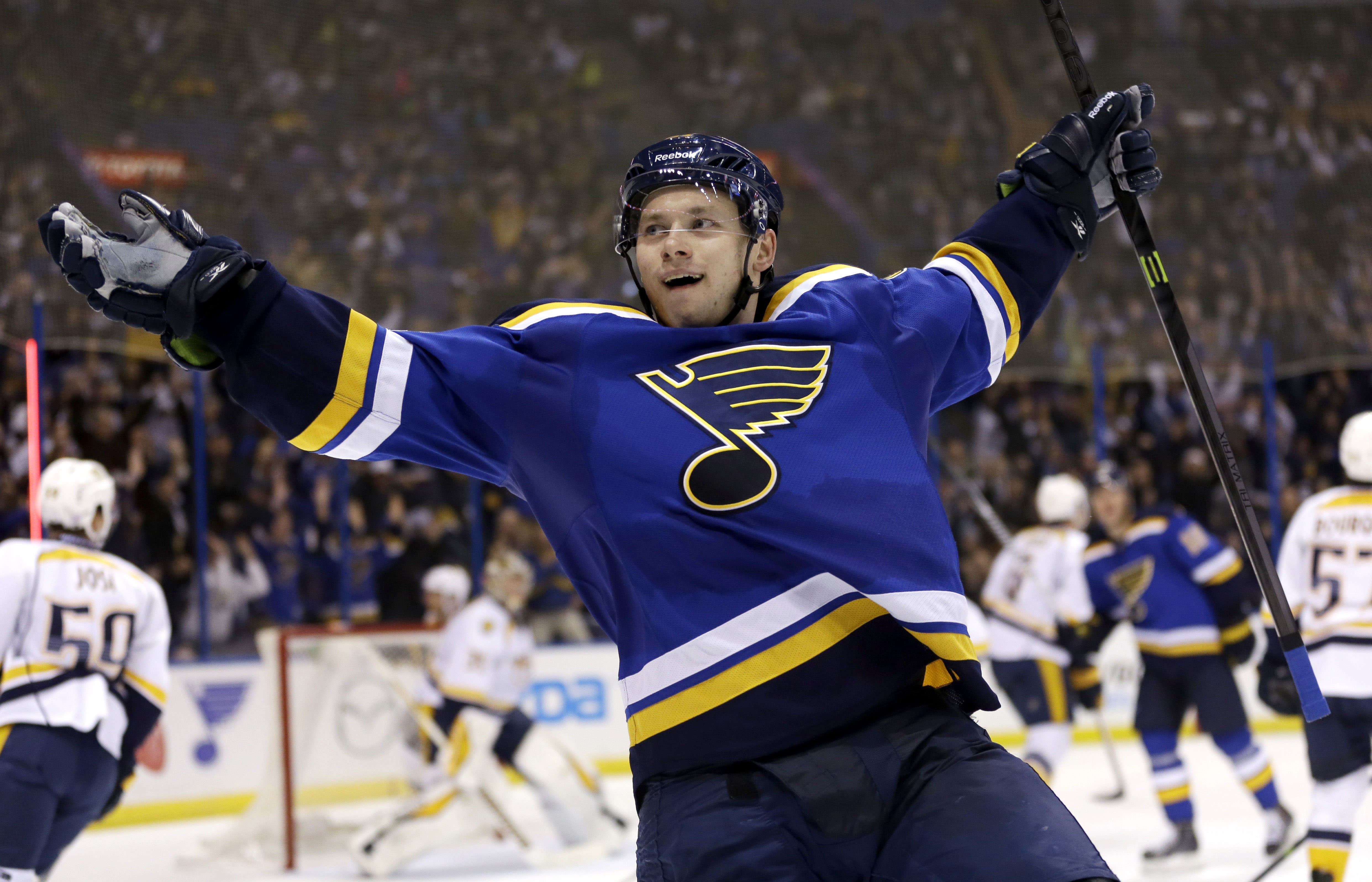 Tarasenko blossoming in 2nd full season with Blues