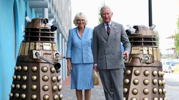 The Prince Of Wales & Duchess Of Cornwall Visit BBC Roath Lock Studios
