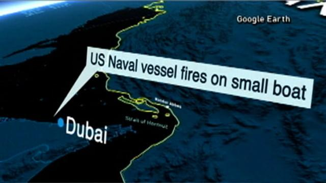 U.S. Navy Fires on Ship in Persian Gulf