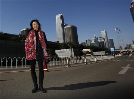 U.S. producer Janet Yang poses during an interview with Reuters in Beijing