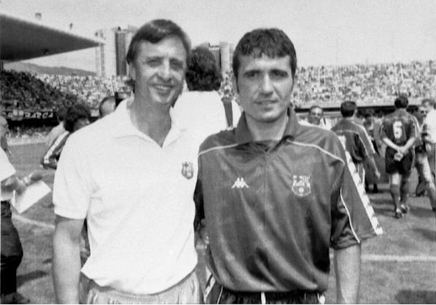 Spain Barcelona Hagi and Johan Cruyff
