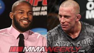 UFC Champions Jon Jones and Georges St-Pierre On Target for October Returns to the Octagon