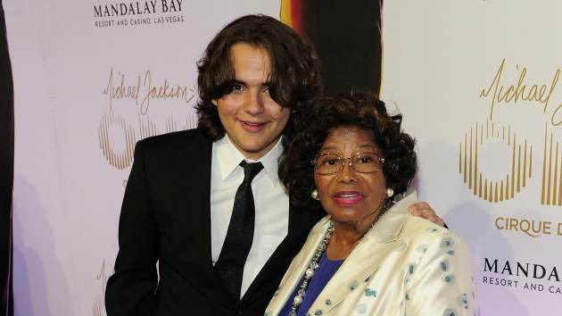 Prince Jackson and Katherine Jackson arrive at the world premiere of 'Michael Jackson ONE by Cirque du Soleil at Mandalay Bay in Las Vegas on June 29, 2013 -- Getty Images