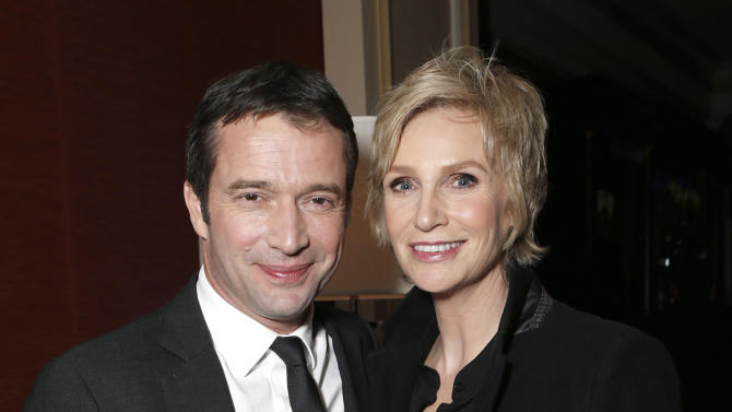 James Purefoy and Jane Lynch attend the Fox Winter TCA All Star Party at the Langham Huntington Hotel on Tuesday, Jan. 8, 2013, in Pasadena, Calif. (Photo by Todd Williamson/Invision/AP)
