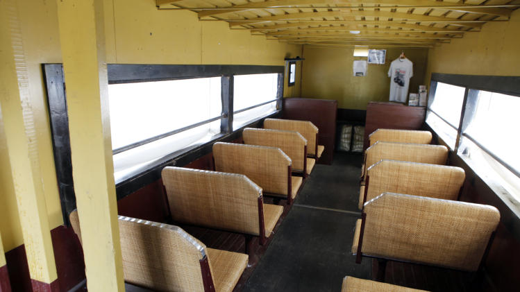 This May 31, 2012 photo shows the passenger compartment of Golden Goose # 7. Six out of seven of the Galloping Geese that were built by the railroads in the 1930s are scheduled to be on display at the museum this weekend.  (AP Photo/Ed Andrieski)