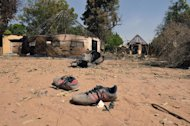 Shoes are seen in a Malian barracks that was occupied by Islamists in Diabaly, 400km north of Bamako, before a French air strike destroyed it, on January 23, 2013. One of the main Islamist groups in Mali split Thursday, with the breakaway faction saying it was ready for talks to end a two-week-old French-led offensive, amid mounting concerns over rights abuses by government troops