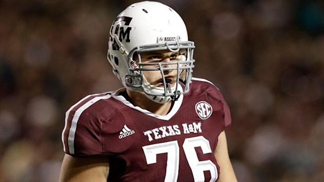 Luke Joeckel #76 of the Texas A&M Aggies (AFP)